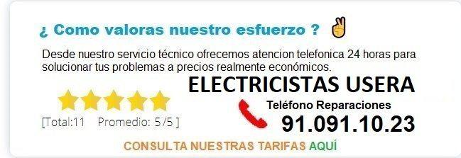 electricistas usera precios